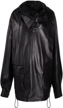Petar Petrov Cowl-Neck Hooded Coat