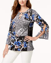 JM Collection Printed Hardware-Embellished Top, Created for Macy's
