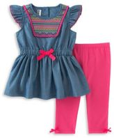 Kids Headquarters Two-Piece Tunic and Capri Pants Set