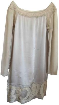 Philosophy di Alberta Ferretti Beige Silk Dresses