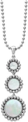 Lagos Maya 3-Drop Pendant Necklace, Mother-of-Pearl