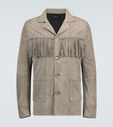 Amiri Fringed suede jacket
