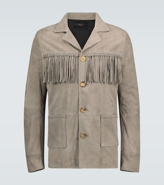 Amiri Fringed suede jacket