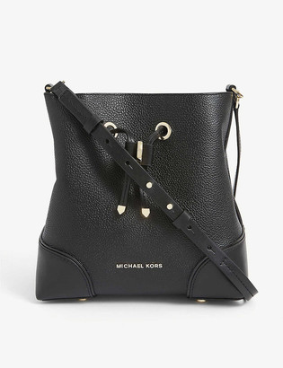 MICHAEL Michael Kors Small Mercer Gallery pebbled-leather bucket bag