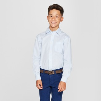 Cat & Jack Boys' Checked Long Sleeve Button-Down Shirt - Cat & JackTM