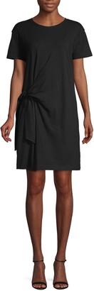 Vince Side-Tie Cotton Dress