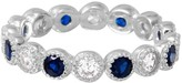 Cosanuova Sterling Silver Round Sapphire Eternity Band