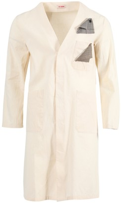 Raf Simons Ivory Classic Labo Coat