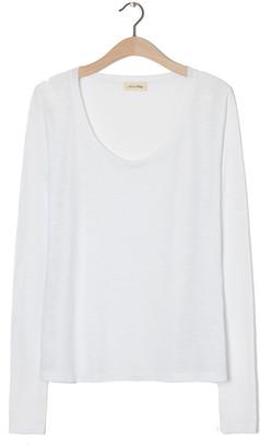 American Vintage Jacksonville Long Sleeve T-Shirt - White - XS .