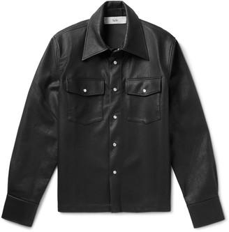 Séfr Matsy Faux Leather Shirt Jacket