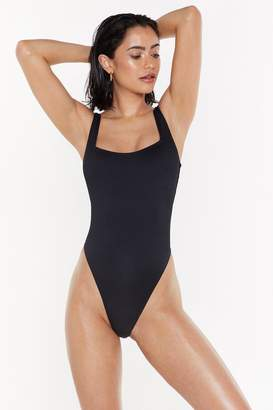 Nasty Gal Womens Aquaholic Knot Back Swimsuit - Black - 4, Black