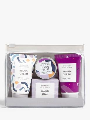John Lewis & Partners Bergamot & Lotus Flower Hand Care Gift Set
