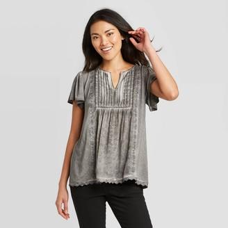 Knox Rose™ Women's Short Sleeve Oil Wash Top - Knox RoseTM