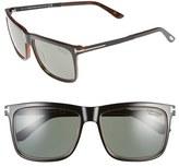 Tom Ford Women's 'Karlie' 57Mm Polarized Sunglasses - Shiny Black / Green Polarized