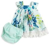 Catimini Baby's Two-Piece Tropical-Printed Dress & Bloomers Set