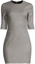 Alice + Olivia Delora Houndstooth Mini Dress