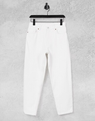 Monki Taiki organic cotton high waist mom jeans in off