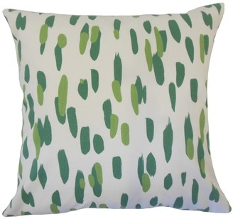 The Pillow Collection Velica Graphic Down Filled Throw Pillow in Palm