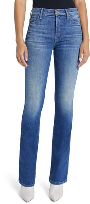 Mother The Double Insider High Waist Bootcut Jeans