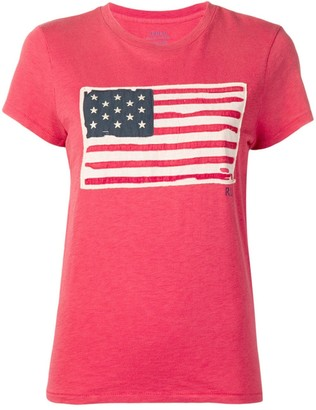 Polo Ralph Lauren flag patch T-shirt
