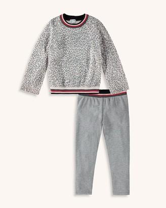 Splendid Little Girl Leopard Sweater Knit Top Set