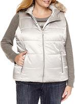 Liz Claiborne Puffer Vest-Plus