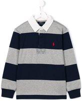 Ralph Lauren striped polo shirt - kids - Cotton - 10 yrs