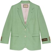 Thumbnail for your product : Gucci Viscose linen single-breasted jacket