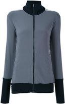 Norma Kamali tri-colour zipped jacket - women - Polyester/Spandex/Elastane - XS