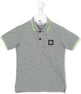 Stone Island Junior - logo patch polo shirt - kids - Cotton/Spandex/Elastane - 2 yrs