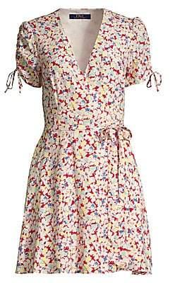Polo Ralph Lauren Women's Floral Tie-Waist A-Line Dress