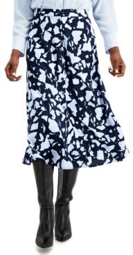 Alfani Printed A-Line Skirt, Created for Macy's