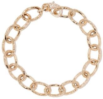Loree Rodkin 14kt Yellow Gold Large Flinstone Diamond Chain Bracelet