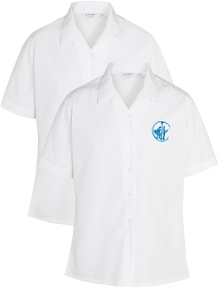 Unbranded Italia Conti Academy Girls' Blouses, Pack of 2, White