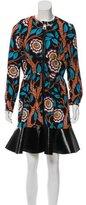 Louis Vuitton 2015 Wool Abstract Print Dress