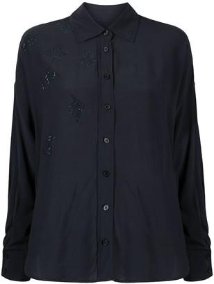 Zadig & Voltaire Tamara embellished leaf shirt