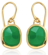 Monica Vinader Vermeil Green Onyx Siren Wire Earrings