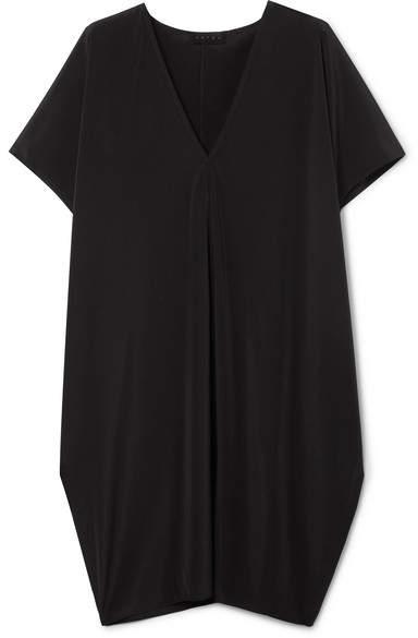 Hatch The Slouch Crepe De Chine Mini Dress - Black