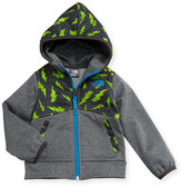 The North Face Kickin' It Hooded Fleece Jacket, Gray, Size 2-4T