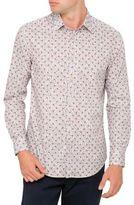 Paul Smith Cotton Leaf Floral Print Shirt