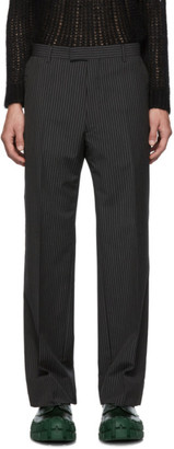 Prada Black and Grey Kid Classic Trousers