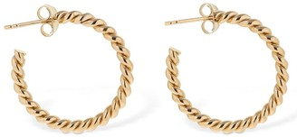 3mm Twisted Loop Hoop Earrings