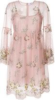 Blugirl floral embroidered tulle dress
