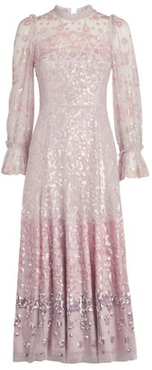 Needle & Thread Embellished Patchwork Ballerina Dress