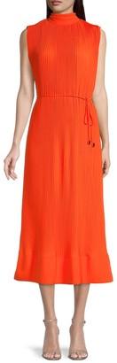 Melina Sleeveless Pleat Midi Dress