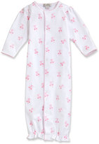 Kissy Kissy Baby Ballet Slippers Printed Pima Convertible Sleep Gown, Pink, Size Newborn-Small