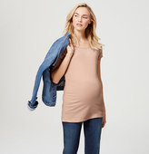 LOFT Maternity Side Ruched Tee