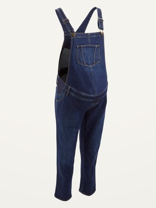 Old Navy Maternity Side-Panel Jean Overalls