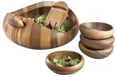 Nambe Pebble 7 Piece Salad Set