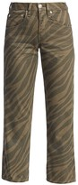 Rag & Bone Maya High-Rise Ankle Straight Animal Print Jeans